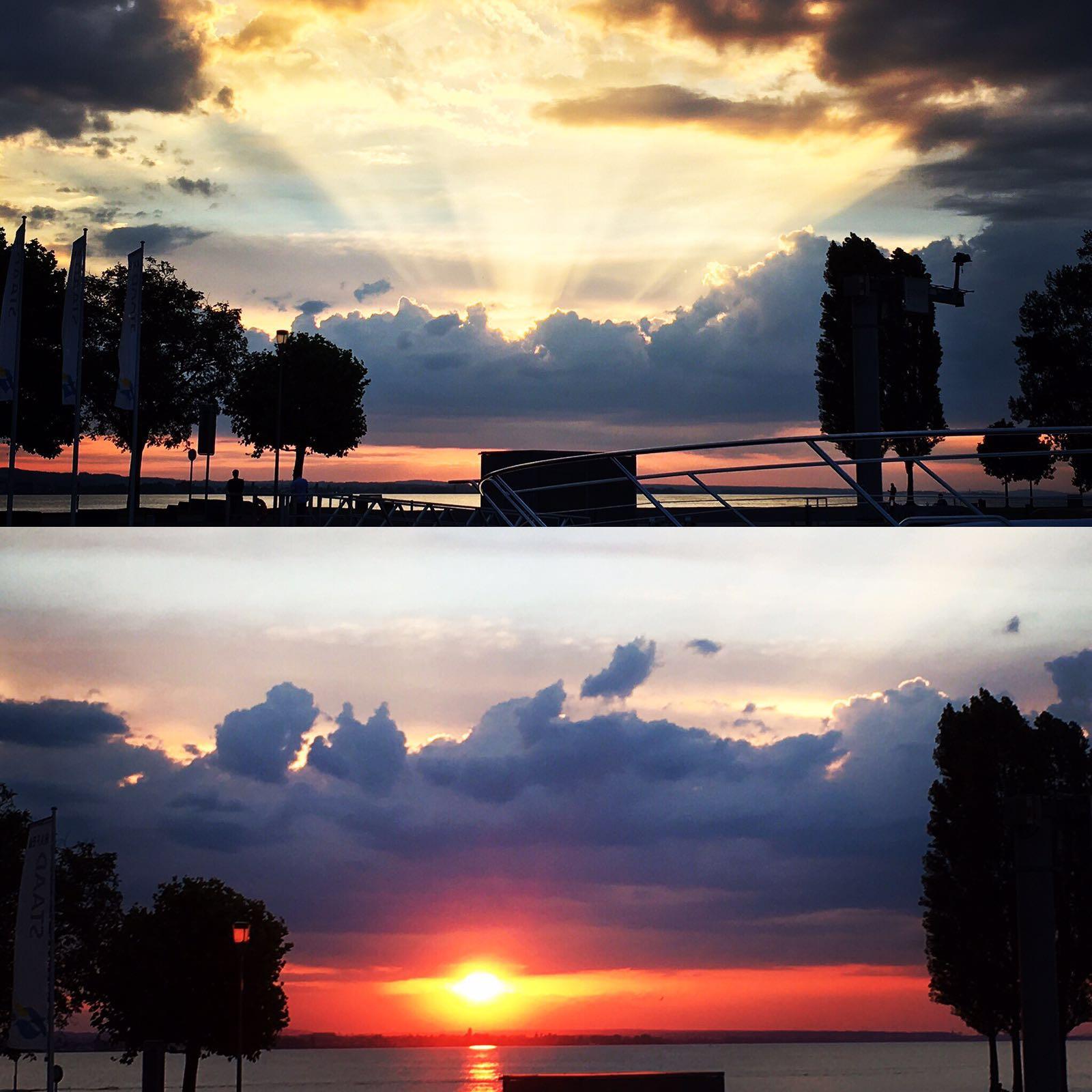 schönster Sonnenuntergang 2016 – Hafen Staad/CH
