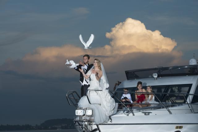 Fotoshooting an Bord